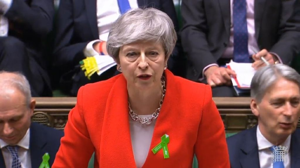 Premierministerin Theresa May will ihren Brexit-Deal ein viertes Mal ins Unterhaus bringen. Foto: House Of Commons/PA Wire/dpa