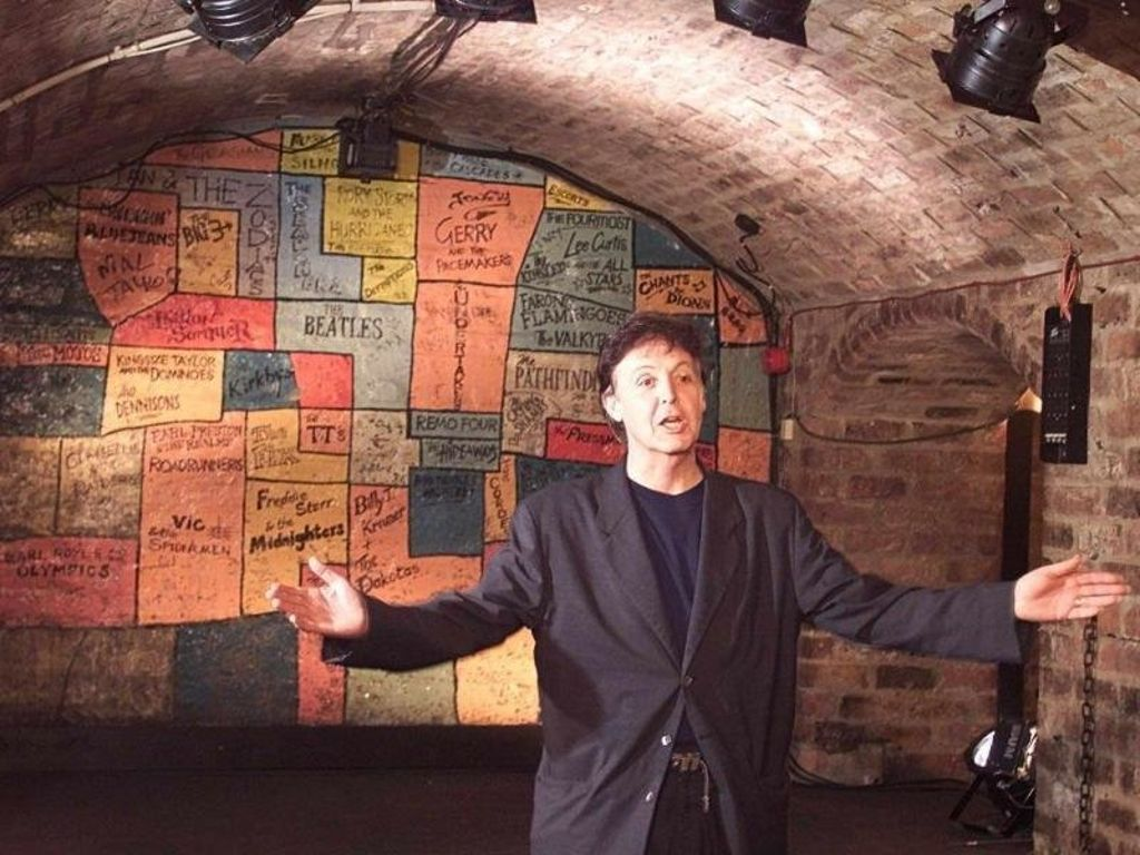 Ex-Beatle Sir Paul McCartney 36 Jahre nach dem Beatles-Auftritt im Cavern Club. Foto: Phil Noble Quelle: Unbekannt