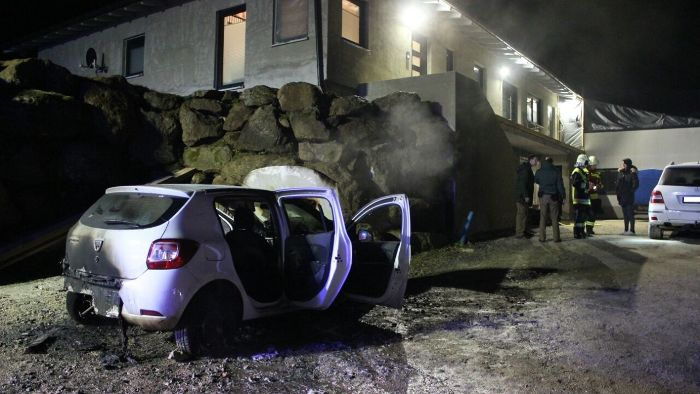 Autobrand in Riedmühle
